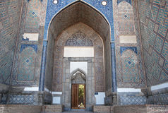 Entrance to the mosque Bibi Khanum royalty free stock photography