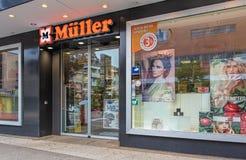 Entrance to the Muller store in Wallisellen, Switzerland Stock Photos