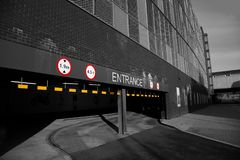 Entrance to a multi-storey car park Stock Images