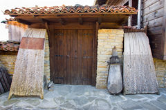 Entrance to the museum in the village of weaving Zheravna Stock Image
