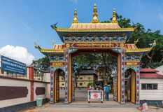 Entrance to Namdroling Buddhist Monastery, Coorg India. Royalty Free Stock Image