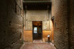 Entrance to Nasrid Palace Alhambra Andalusia Spain Stock Photography