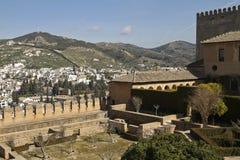 Entrance to  Nasrid Palaces of Alhambra Granada Royalty Free Stock Image