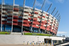 Entrance to the National Stadium in Warsaw, Poland Royalty Free Stock Photography