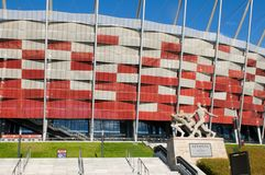 Entrance to the National Stadium in Warsaw, Poland Stock Image