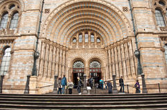 Entrance to the Natural History Museum in London Royalty Free Stock Image