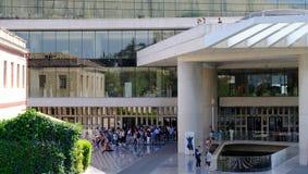 The Acropolis Museum, Makrigianni, Athens, Greece. The entrance to the new modern Acropolis Museum, Makrigianni, Athens, Greece royalty free stock images