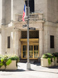 Entrance to the New York Stock Exchange in Manhattan Stock Images