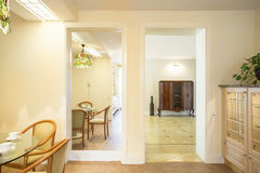 Entrance to next room. View of entrance to next room in big luxury house Royalty Free Stock Photography