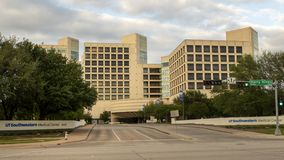Entrance to North Campus of UTSouthwestern Medical Center, Dallas Texas. Pictured is the entrance to the North Campus of UTSouthwestern Medical Center, Dallas Stock Photos