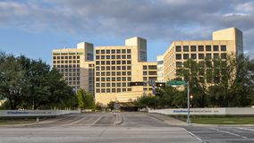 Entrance to North Campus of UTSouthwestern Medical Center, Dallas Texas. Pictured is the entrance to the North Campus of UTSouthwestern Medical Center, Dallas Stock Image
