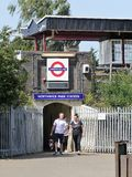 Entrance to Northwick Park London Underground Metropolitan railway station royalty free stock photo