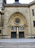 Entrance to the Notre Dame Cathedral. Luxembourg royalty free stock photography