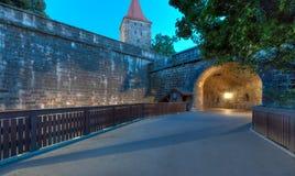 Entrance to Nuremberg Old Town Royalty Free Stock Photos
