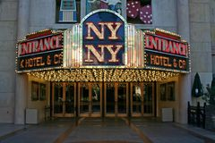 Entrance to the NY NY Casino - Las Vegas Stock Image