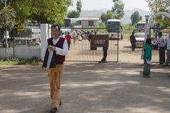 Entrance to Nyaung U Airport. A small Nyaung U International Airport port in Bagan Myanmar (Burma Royalty Free Stock Image