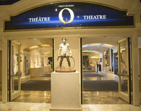 Entrance to O Theatre by Cirque du Soleil at the Bellagio hotel in Las Vegas Royalty Free Stock Photo