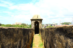 The entrance to the observation tower, Galle Fort Royalty Free Stock Photo