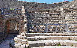 Entrance to Odeion (small theatre) in Pompeii Stock Image