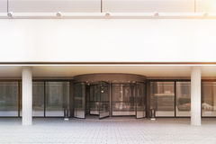 Entrance to office building, front view, toned Royalty Free Stock Image