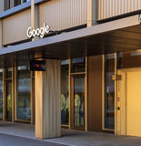 Entrance to the office of the Google company on Gustav Gull squa. Zurich, Switzerland - 18 June, 2017: entrance to the office of the Google company on Gustav Royalty Free Stock Image
