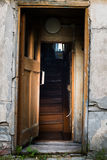 Entrance to the old abandoned house Royalty Free Stock Images