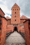 Entrance to the old brick castle in Trakai Stock Photography