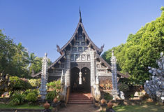 Entrance to the old Buddhist temple Stock Photography