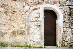 Entrance to old building. Royalty Free Stock Photos
