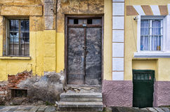 Entrance to an old building in Florina, a popular winter destination in Greece Royalty Free Stock Photography
