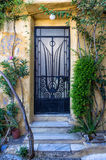Entrance to an old building in Plaka neighborhood, Athens, Greece Royalty Free Stock Image