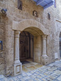 Entrance to the old buildings. Jaffa, Tel Aviv, Israel. Stock Image