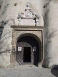 Entrance to the old castle Niedzica on the lake Czorsztyn Stock Photo