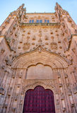 Entrance to the Old Cathedral of Salamanca Royalty Free Stock Photos