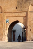 Entrance to the old city. Main gate in the wall to entrance in a moroccan village medina Stock Photography