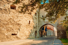 Entrance To Old City Sea Gate In Tallinn, Estonia Stock Photo