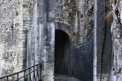 Entrance to the old fortress royalty free stock photography