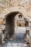 Entrance to the old fortress. Entrance to the ruins of an ancient fortress royalty free stock images