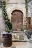 Entrance to the old French house Royalty Free Stock Photography
