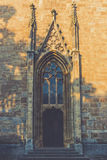 Entrance to an old Gothic. Church Royalty Free Stock Photography