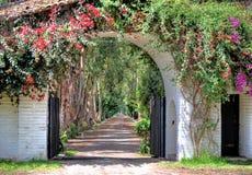 Entrance to an old hacienda restaurante Royalty Free Stock Image