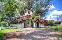Entrance to an old hacienda restaurante Stock Photo