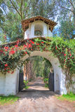 Entrance to an old hacienda restaurante Royalty Free Stock Photo