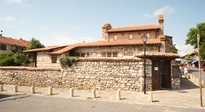 Entrance to the old homestead in Nessebar in Bulgaria Stock Image