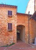 Entrance to an old house in the Italian province of Tuscany stock image