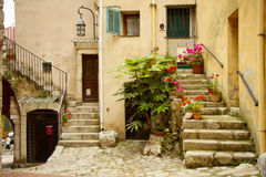 Entrance to an old house, la turbie, France Royalty Free Stock Images