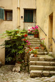 Entrance to an old house, la turbie, France Stock Photography