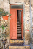 Entrance to old house. Ventimiglia, Italy. Stock Photography