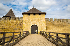 Entrance to old Khotyn castle Royalty Free Stock Image