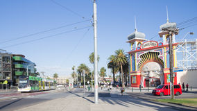 Entrance to the Old Luna Park in Melbourne Stock Photography